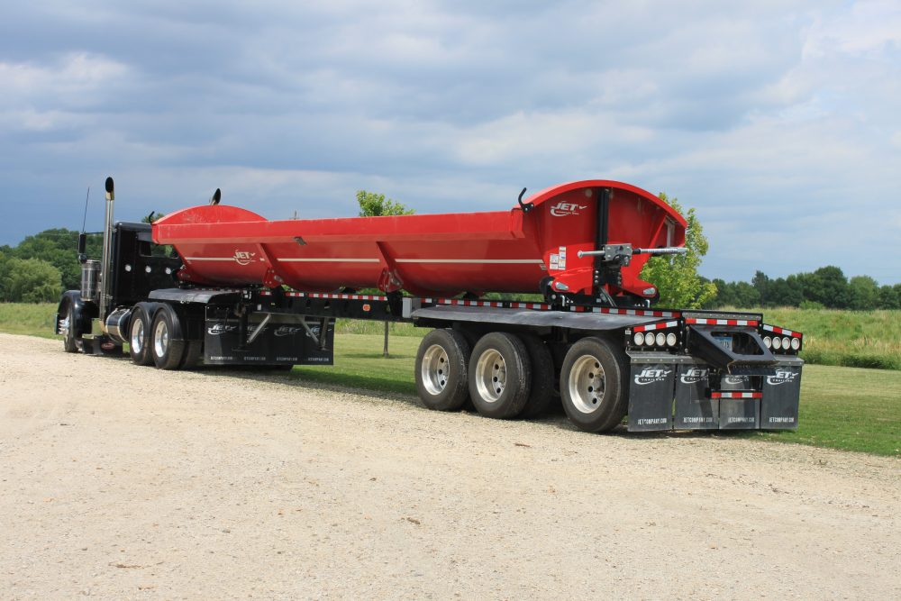 Side Dump Trailer Triple Spread Axle Red Black 1000x667 side dump trailers jet company jet side dump trailer wiring diagram at edmiracle.co