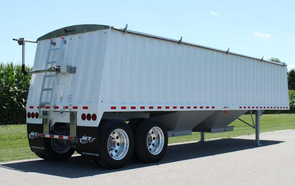 White 30ft Steel Grain Trailer e1493411013520 1000x631 jet hopper trailers jet company hooper trailer wiring diagram at bakdesigns.co